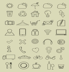 thin icons3 vector image