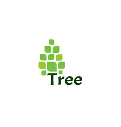 tree icon simple pine logo green tree on vector image