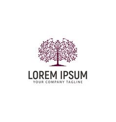 Tree logo design concept template vector