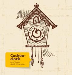 Vintage cuckoo-clock vector