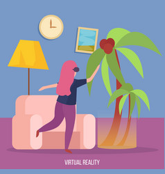 virtual reality orthogonal background vector image