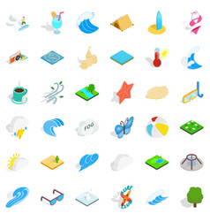 water creation icons set isometric style vector image