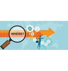 where question mark business concept decision vector image