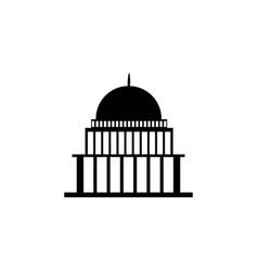 white house congress capitoly building icon vector image