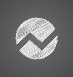 Circle diagram sketch logo doodle icon vector