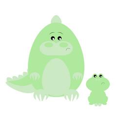 crocodile and frog sad vector image