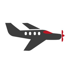 passenger plane silhouette isolated on white vector image vector image