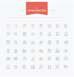 Printing house print technology folded catalog vector