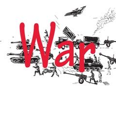 war pattern vector image