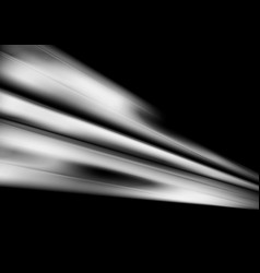 white smooth abstract stripes on black background vector image