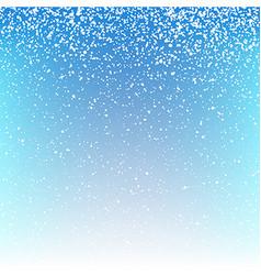 Christmas snowfall background vector image vector image