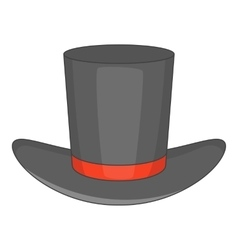 Gentleman hat icon cartoon style vector image vector image