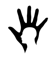 Hand and Head vector image vector image