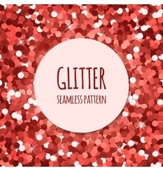 Red glitter seamless pattern vector image