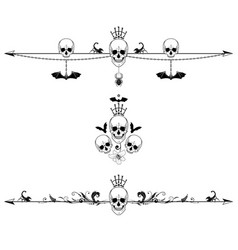 set of horror borders vector image vector image