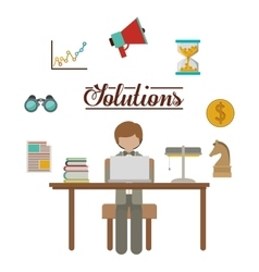 strategy and solutions design vector image