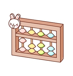A view of abacus vector image