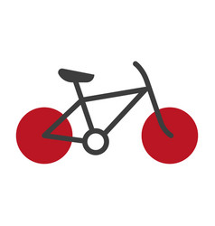 bicycle silhouette isolated on white logo vector image