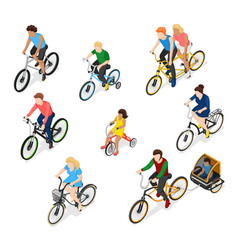 bike riders character set vector image vector image