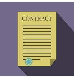 Business contract icon flat style vector image