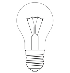 Contour lamp vector image vector image