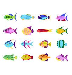 cute fish set vector image