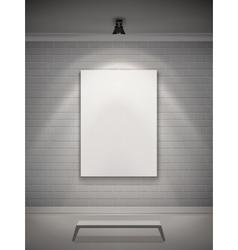 Gallery Interior Realistic vector image