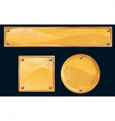golden plates vector image vector image