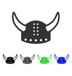 horned helmet flat icon vector image vector image
