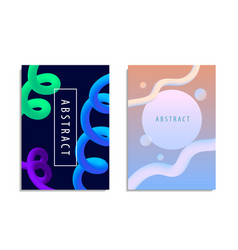 Set of modern trendy style abstraction vector