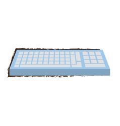 sketch keyboard computer vector image