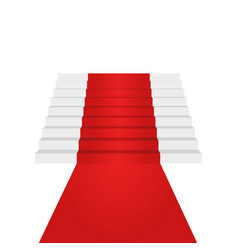 Stairs up design element red carpet background vector