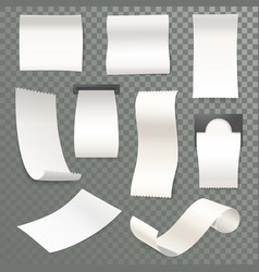 3d receipt rolled thermal paper for cash machine vector image