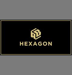 Ab hexagon logo design inspiration vector