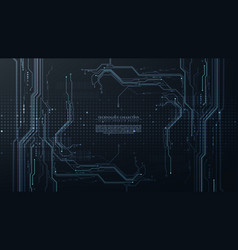 Abstract digital technology futuristic circuit vector