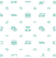 Auto icons pattern seamless white background vector