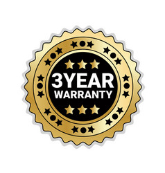 badge isolated with 3 years of warranty sign vector image