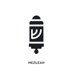 Black mezuzah isolated icon simple element from vector