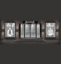 boutique shop facade with signboard vector image