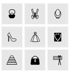 bride icon set vector image