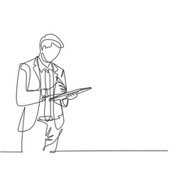 Business workshop concept one single line drawing vector