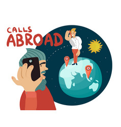 Calls abroad composition vector