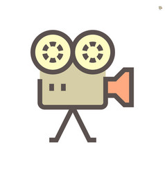 camcorder icon design vector image