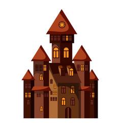 castle icon cartoon style vector image