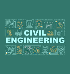 Civil engineering word concepts banner vector