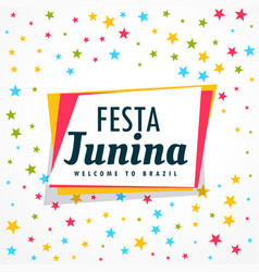 colorful festa junina holiday greeting design vector image