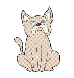 comic cartoon grumpy little dog vector image