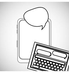 Communication design bubble icon Flat vector