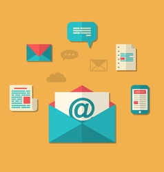 concept of email marketing - newsletter and vector image