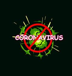 Coronavirus text warning banner backgrounds boom vector